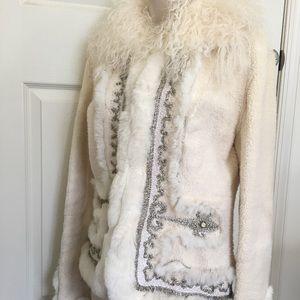Jackets & Blazers - Shearling Jacket/ coat Made in Italy Size 10